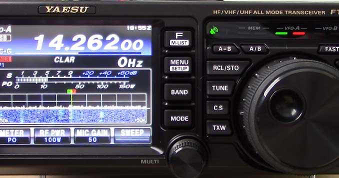 Yaesu FT-991A Display while operating the radio
