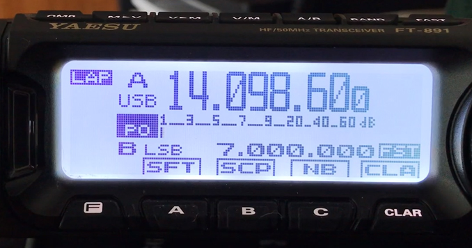 Yaesu FT-891 Display and menu