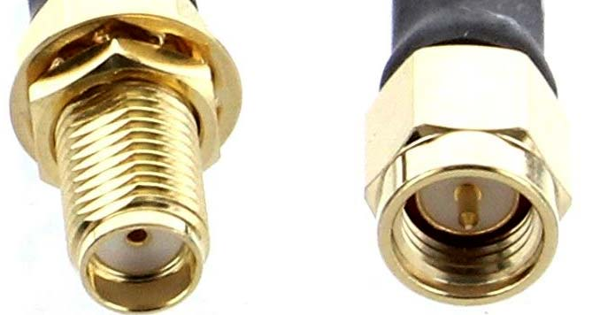 SMA Female and Male Connectors